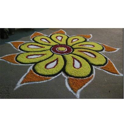 Simple Pookalam Rangoli Flower Carpet Onam Special