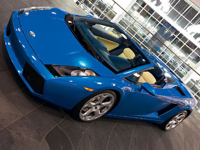 Lamborghini on Lamborghini Gallardo Spyder Blue   Cool Car Wallpapers