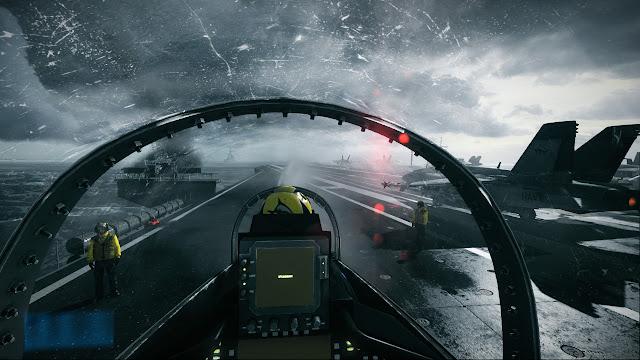 Battlefield 3 F-18 jet plane cockpit aircraft carrier landed