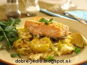 Zapekaný losos so zemiakmi - recept