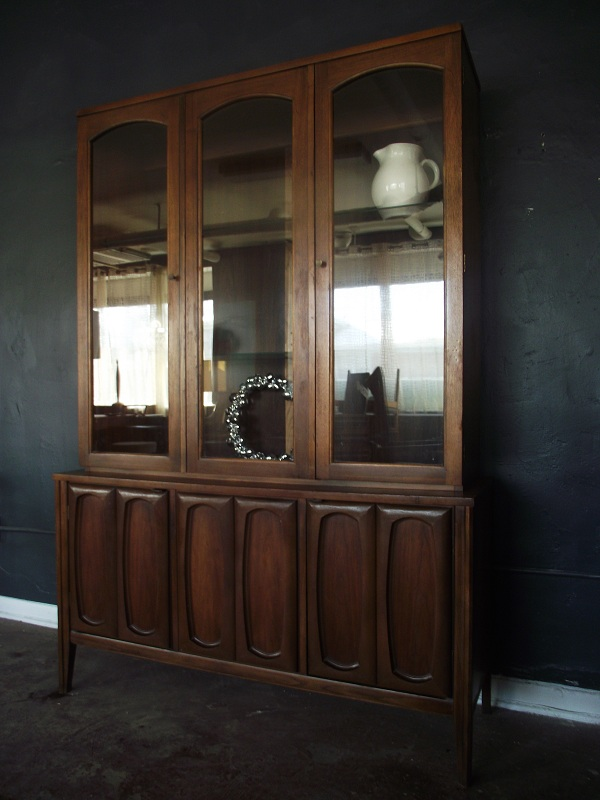 This Is A Beautiful MCM China Cabinet In Wonderful Condition. There Are  Three Shelves Inside The Glass Behind Two Doors. The Bottom Also Has Two  Doors For ...