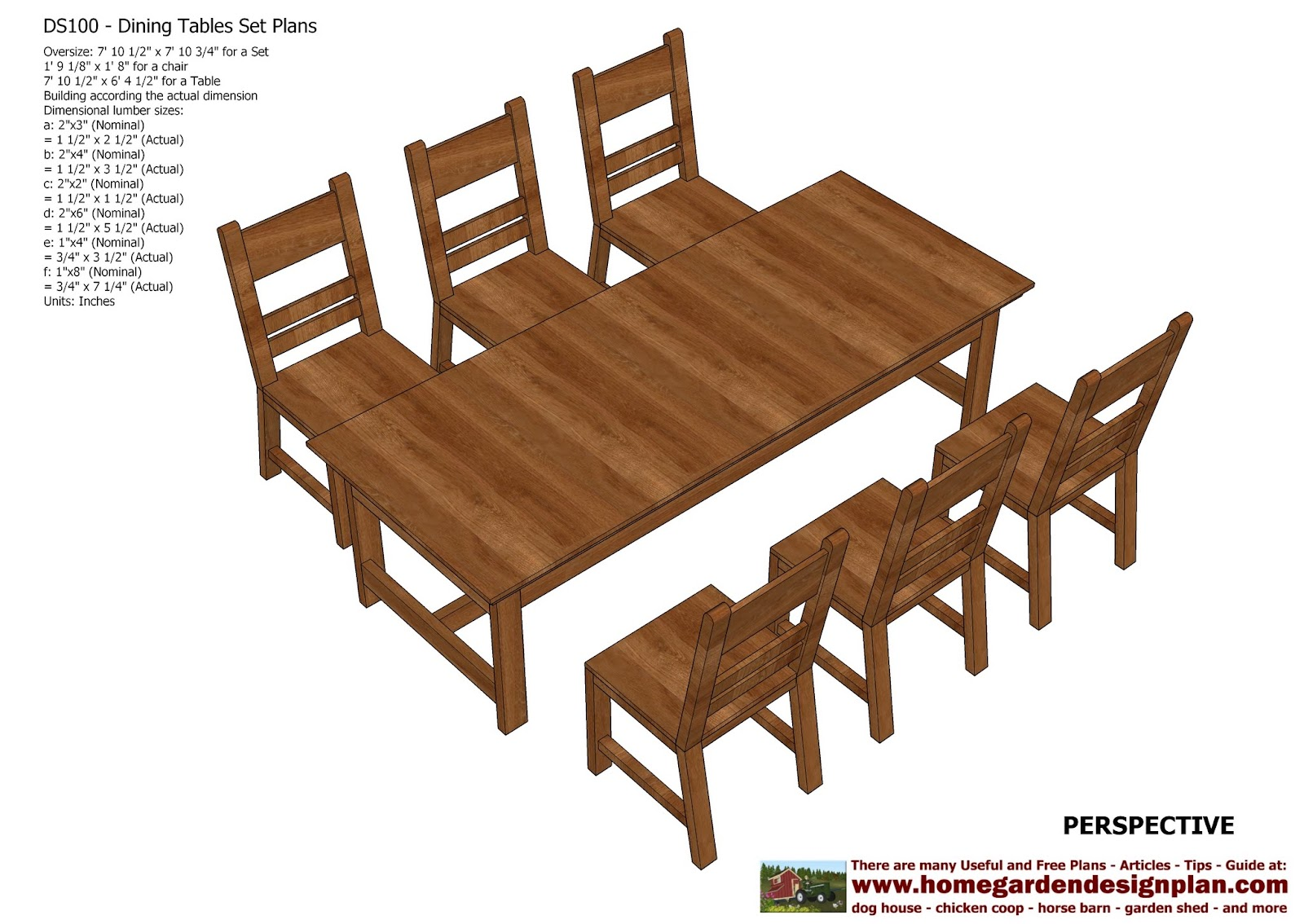 Home garden plans ds dining table set