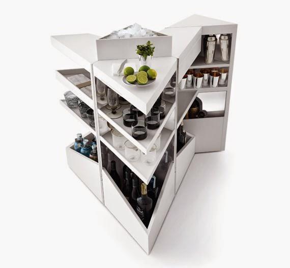Arredo in mobile bar moderno per lo spazio living - Mobile bar moderno ...