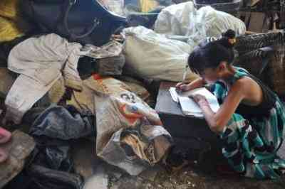 Crianças catadoras de lixo na China