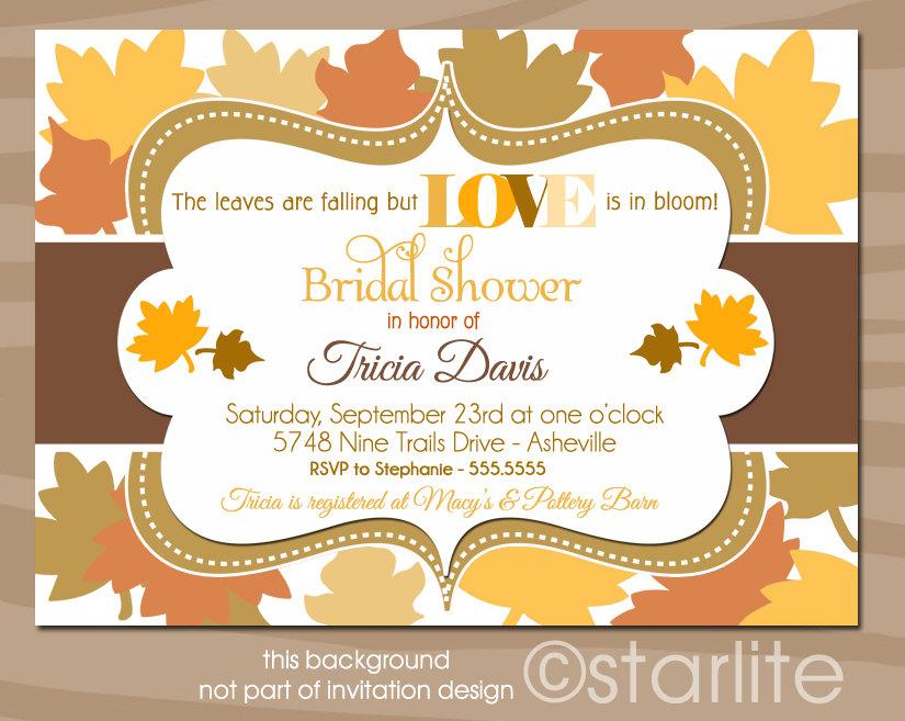 Autumn vanilla picture autumn themed bridal shower invitations autumn themed bridal shower invitations1 filmwisefo