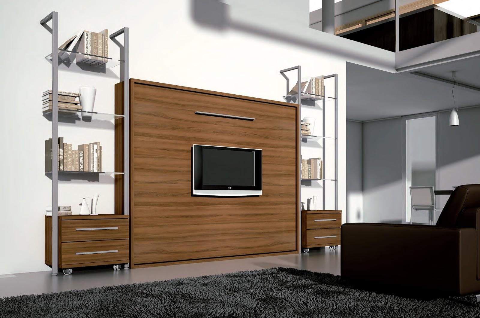 Arte h bitat tu tienda de muebles espacios peque os - Mueble salon con cama abatible ...