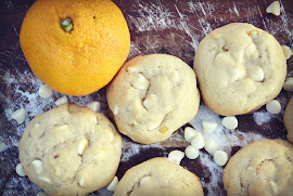 White Chocolate Orange Burst Cookies