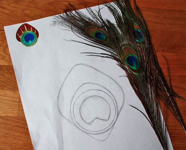 peacock children kids party craft how to