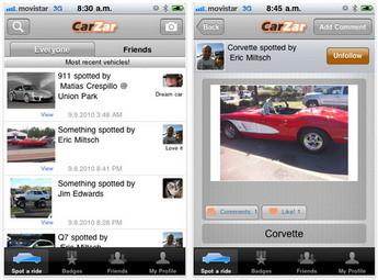The CarZar is the World's First Location-Based Social Automotive App