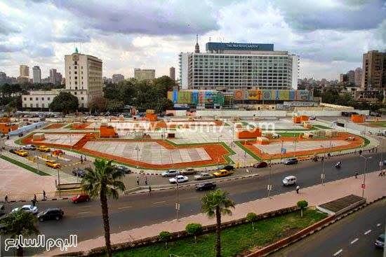 صور ميدان التحرير وجراج التحرير بعد اعمال التطوير والتجميل