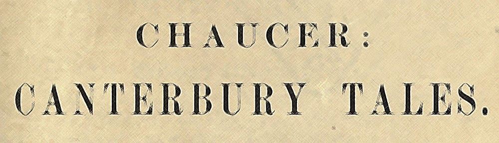 The Canterbury Tales Chaucer