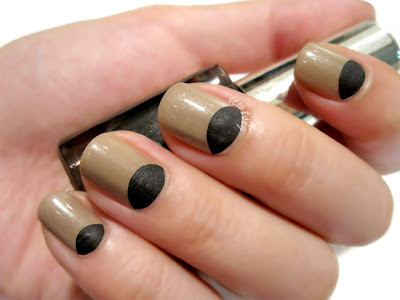 Half Moon Two-Textured Nail Art (Kaelen New York Fashion Week Spring Summer 2013 Inspired)