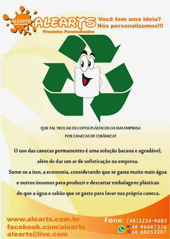 Copo Plástico nunca mais...