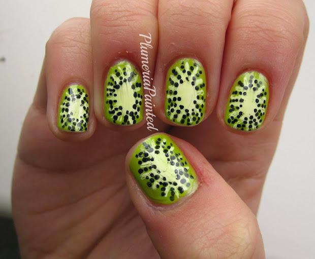 plumeriapainted kiwi nail art