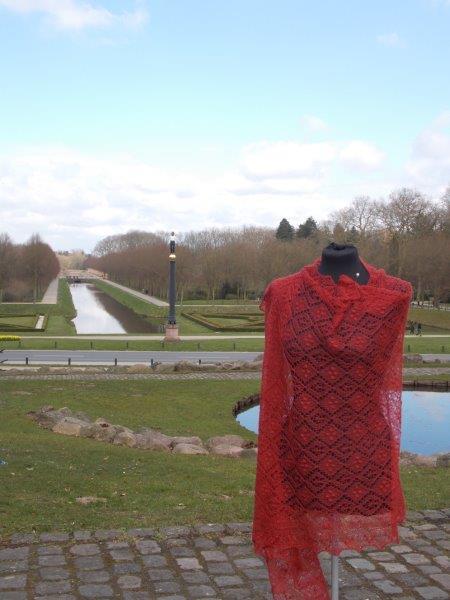 TE KOOP: extra groot + lang:Haapsalu sjaal