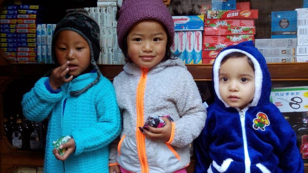 Local kids in Sikkim