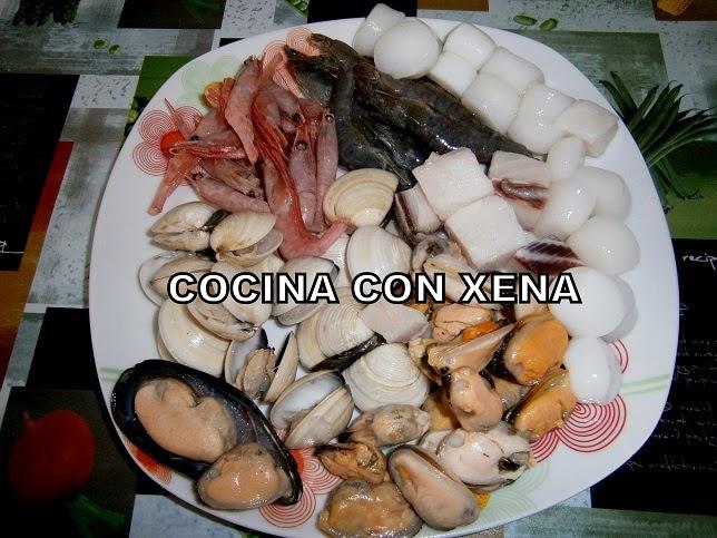 Cocina con xena arroz con variado congelado de marisco en for Cocina con xena olla gm d