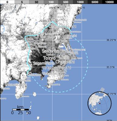 Epicentro sismo 5,5 grados en Japon, 16 de Noviembre 2013