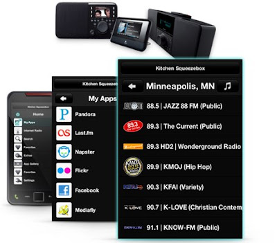 Logitech Squeezebox aplikacije za Android mobitele