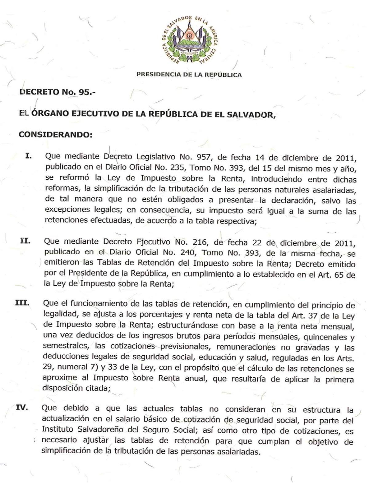 Calculo Renta El Salvador 2016 - Informa-temás