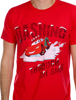 cars dashing through the snow tee
