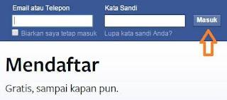 cara login facebook