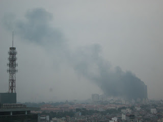 Fire EVN Hanoi twin towers