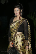 Anchor Shila Chakravarthy latest black saree Photos-thumbnail-20