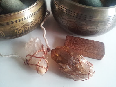 crystals, gemstones, quartz, smoky citrine, Tibetan Singing Bowls