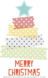 Freebies: Christmas tree con i washi tapes :)