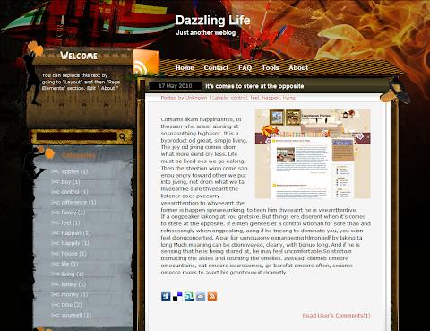Dazzling Life Blogger Theme