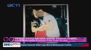 Foto Angel Karamoy dan Pasha Ungu Ciuman bibir