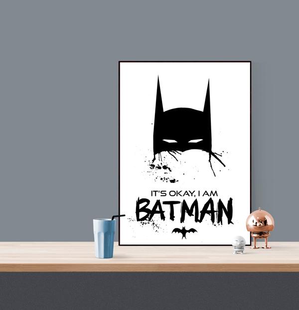 batman tavla, tavlor med batman, konsttryck, print, prints, webbutik, webbutiker, webshop, svart och vitt, barntavla, barntavlor, posters för barnrummet, barnrum, poster, artprint, artprints, the dark knight, nyhet, på väggen,