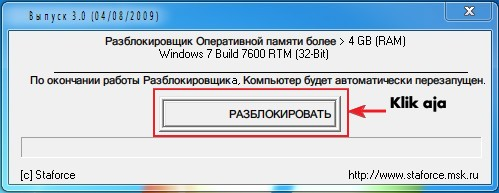 Tutorial Menembus Limit Ram 4 Gb Pada Windows 7 32bit