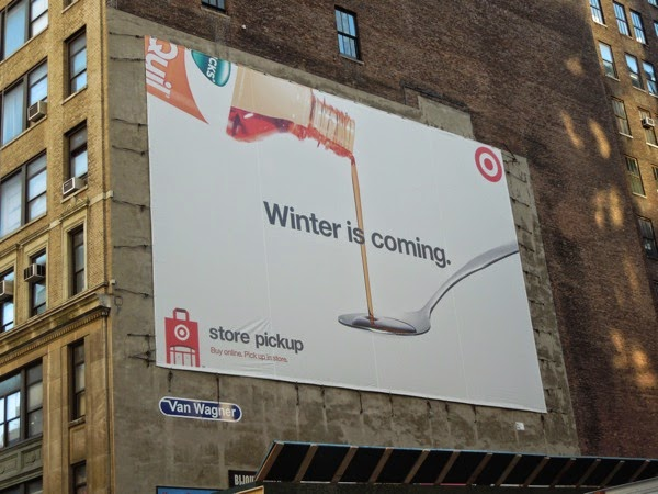 Winter is coming Target billboard