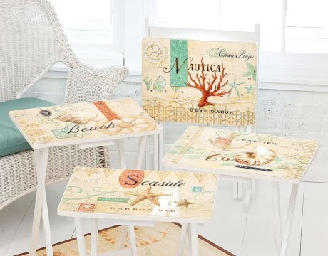 painted tv tray beach tables