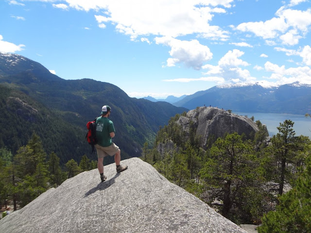 david checking out views from summit of chief in squamish