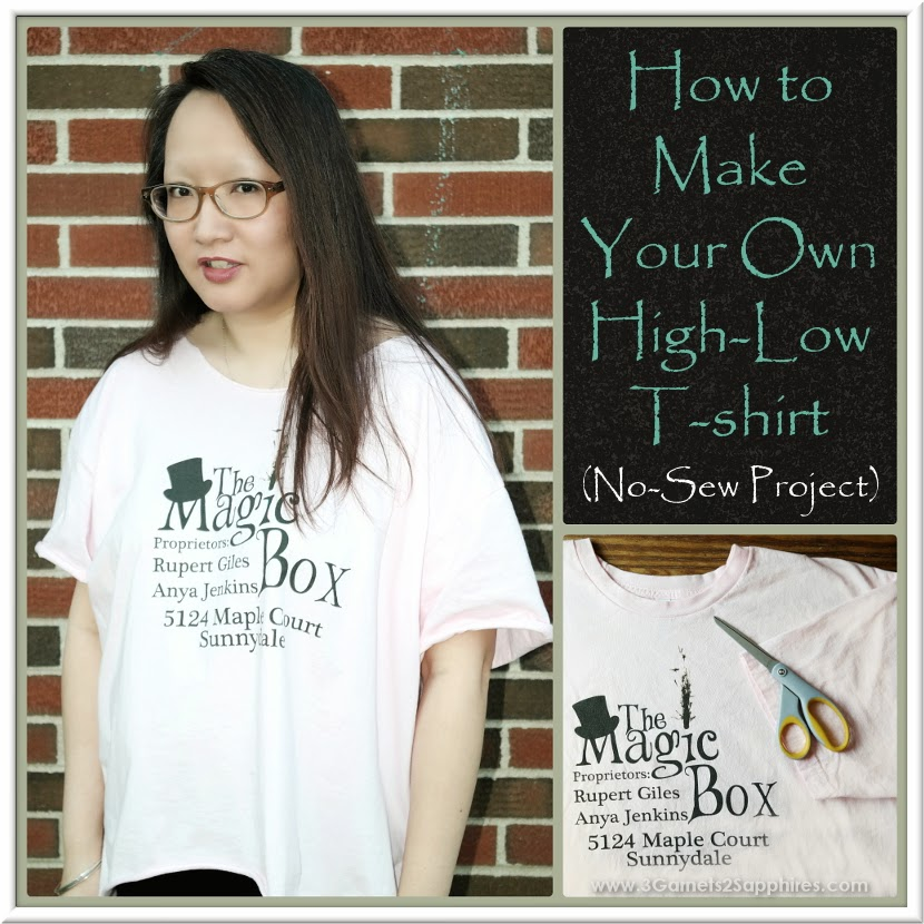 How-to Make Your Own No-Sew High-Low T-Shirt