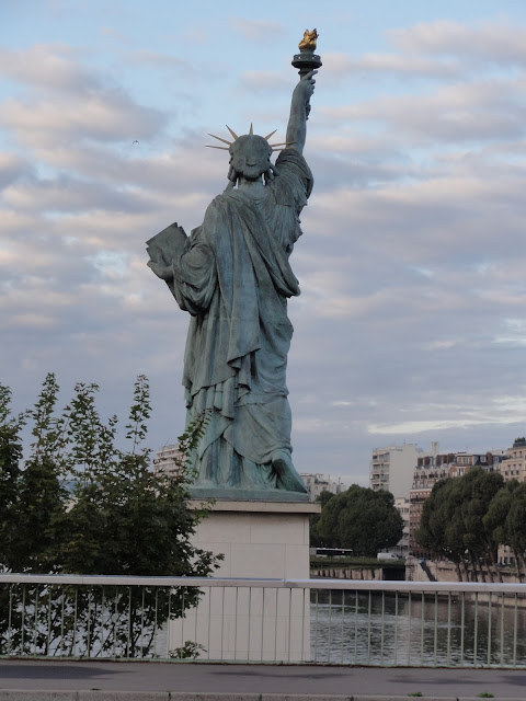 Statue of Liberty on the Island of the swans in Paris