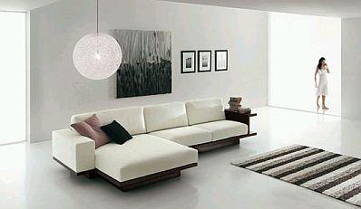 Muebles de sala blancos for Salas minimalistas modernas
