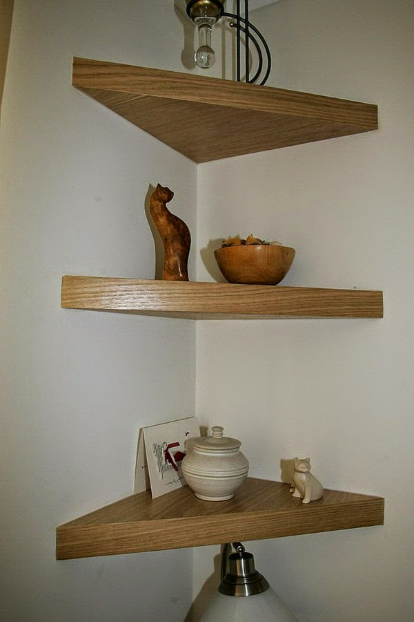 Great suggestions for corner shelving units- 20 ideas