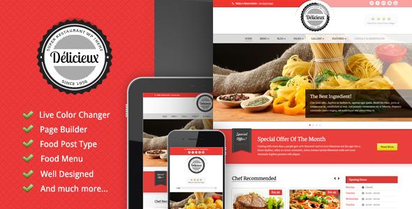Delicieux - Themeforest Restaurant Wordpress Theme