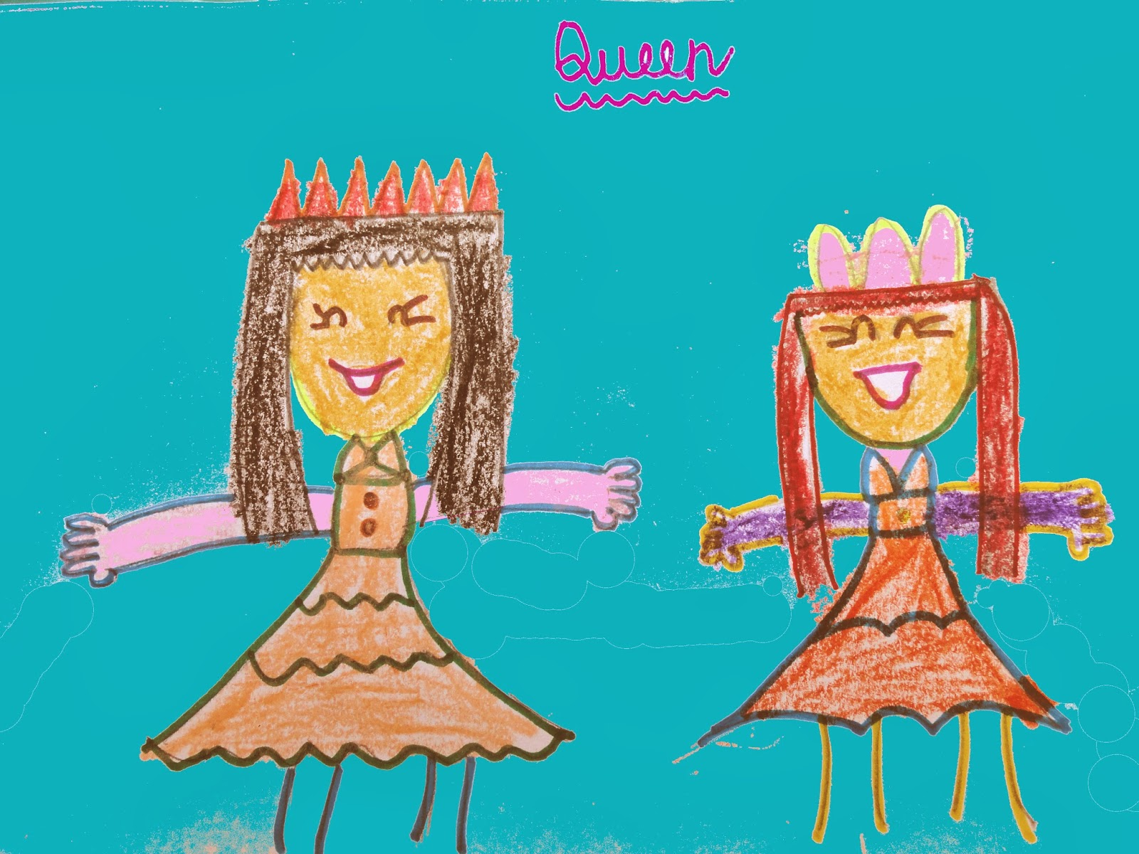 queen drawing for kids