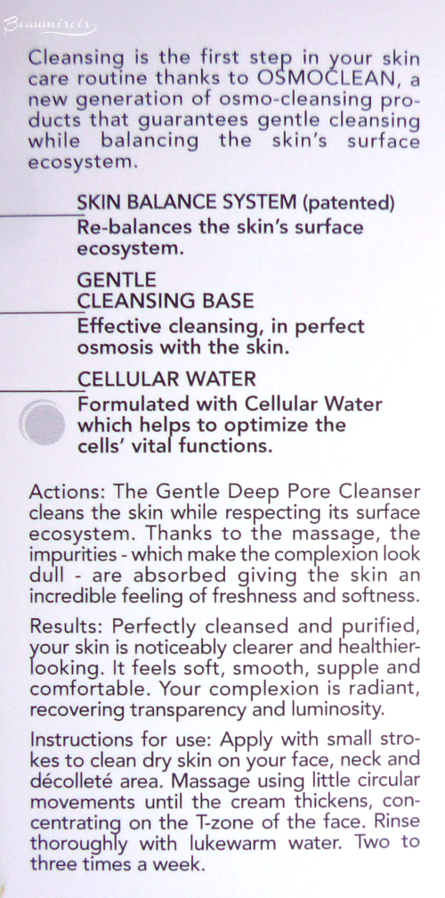 Institut Esthederm Gentle Deep Pore Cleanser: actions, results, details