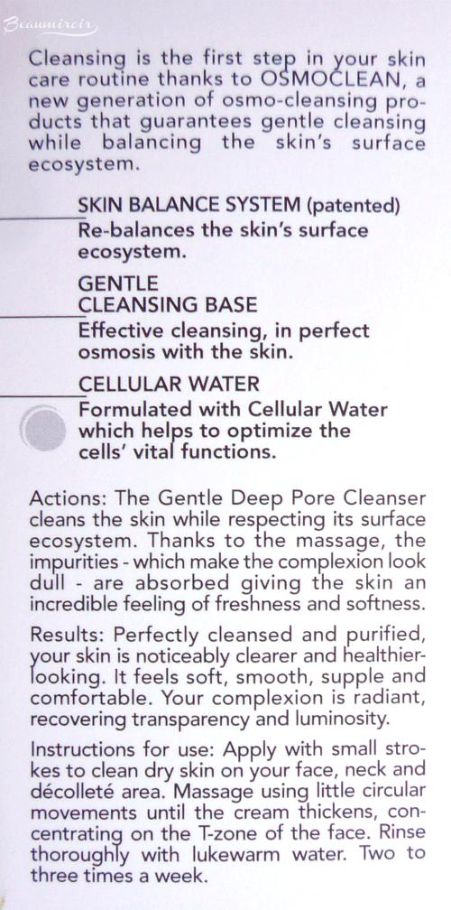 Institut Esthederm Gentle Deep Pore Cleanser: actions, results, details