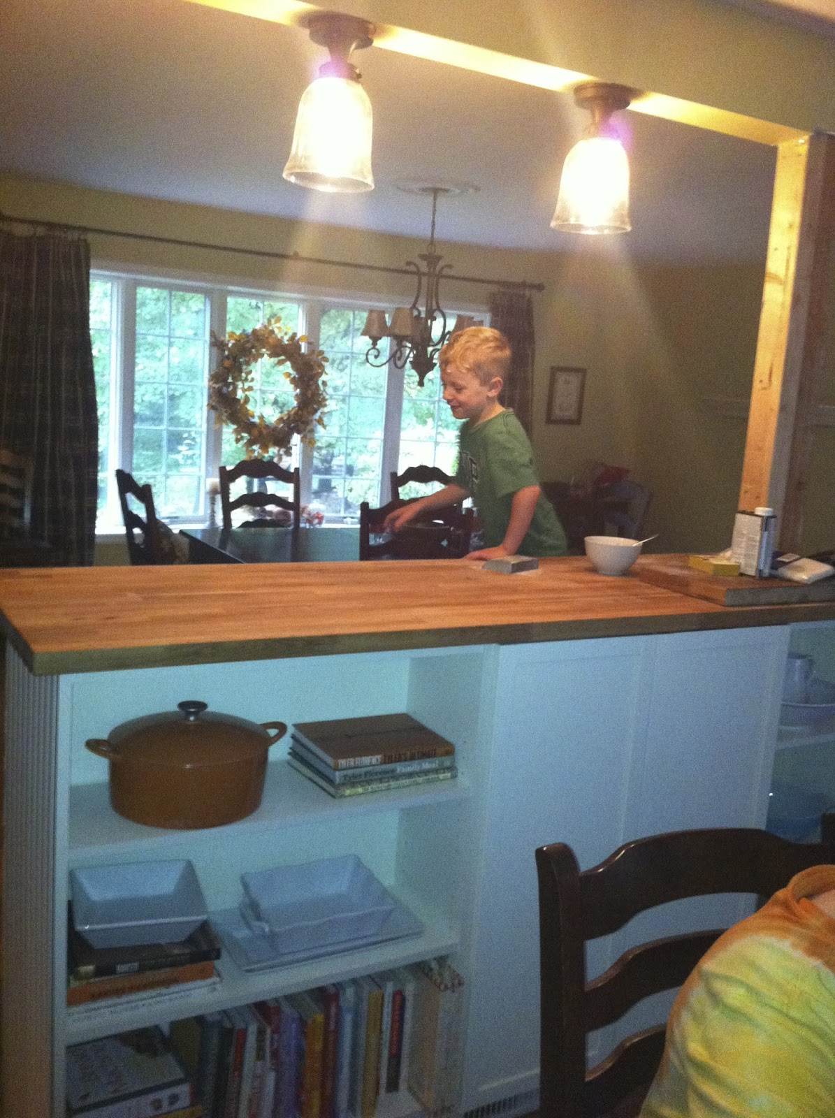 Golden Boys and Me: Bookshelves Turned Kitchen Island Ikea Hack ...