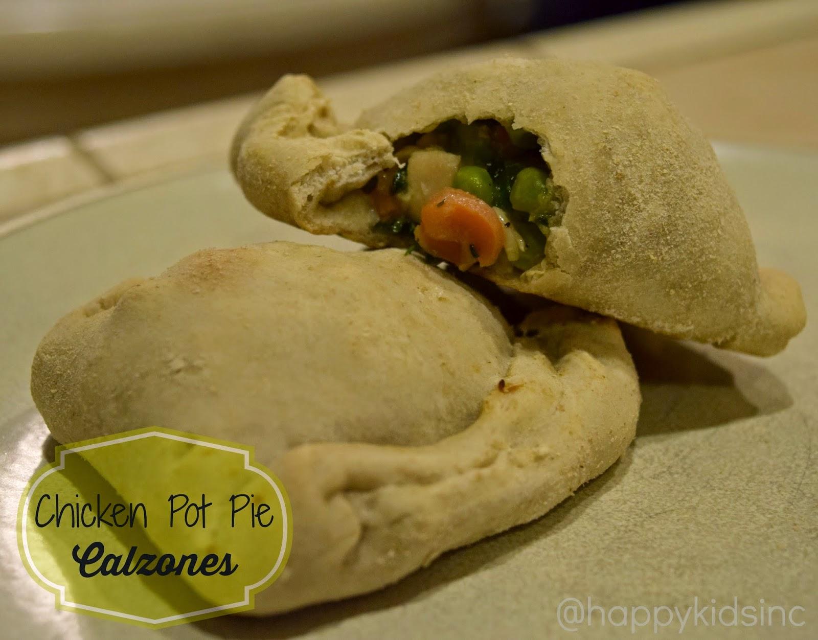 Chicken Pot Pie Calzones