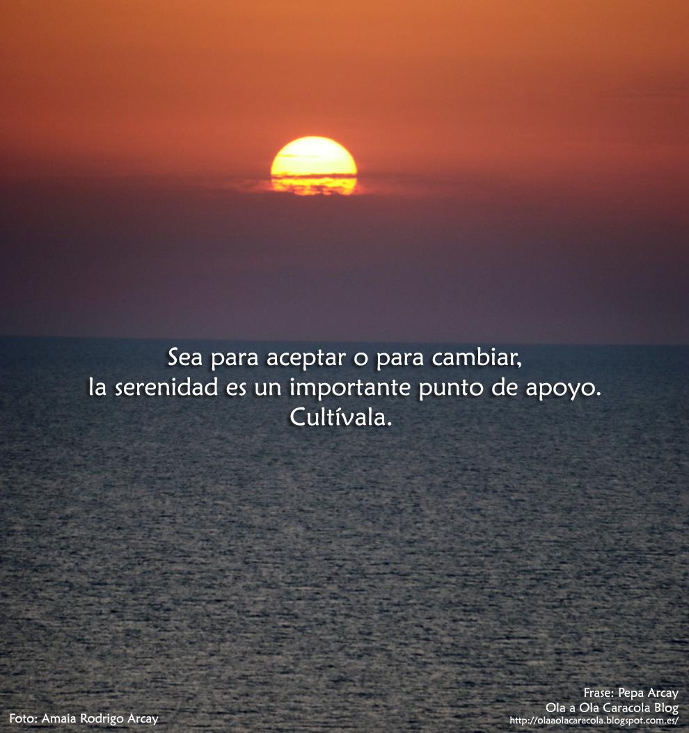 Ola a ola caracola blog 10 claves paa vivir m s for Frases de calma interior