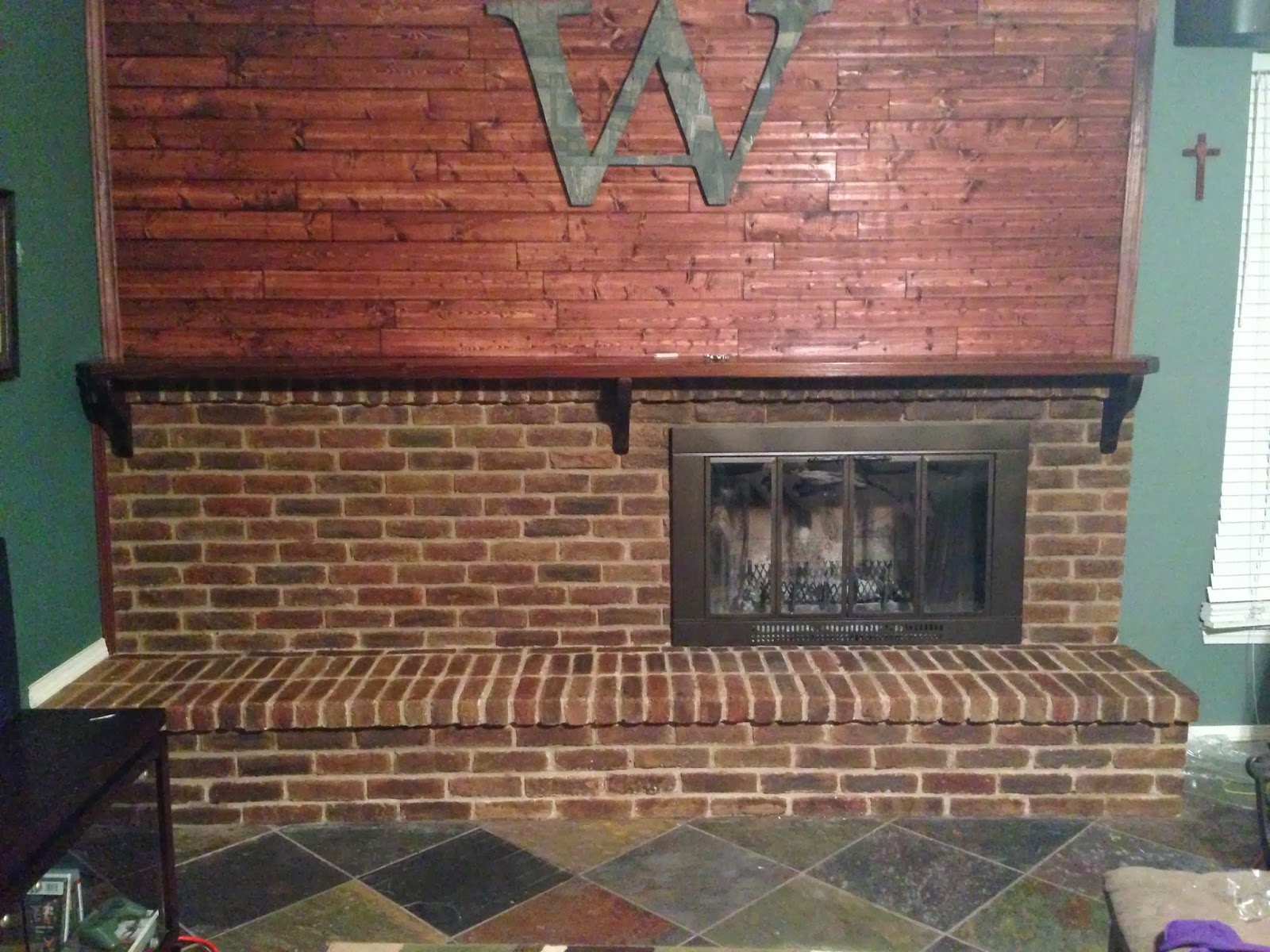 Wilker do 39 s diy stain fireplace brick for Staining brick exterior pictures