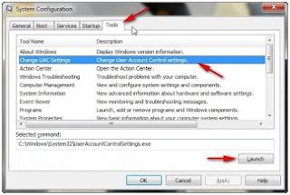 Cara menonaktifkan UAC (User Account Control) windows 7
